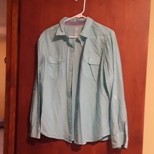 Women's Blue Button Down - will be donated 11/8